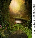 3d rendering of a view through... | Shutterstock . vector #620034287