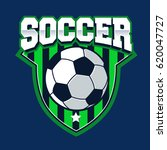 soccer shield logo football... | Shutterstock .eps vector #620047727
