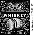 Hand Drawn Whiskey Label With...