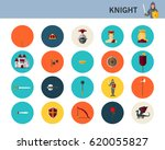 knight concept flat icons.    Shutterstock .eps vector #620055827