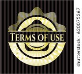 terms of use gold shiny emblem