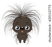 cute stylized cartoon porcupine ... | Shutterstock .eps vector #620112773