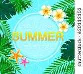summer sale concept. summer... | Shutterstock .eps vector #620113103