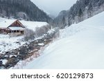Wooden House At A Cold River I...