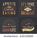 set of vintage fast food and ... | Shutterstock .eps vector #620130083