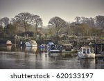 Boats Moored On The River Arun...