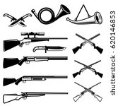 set of hunting weapon isolated... | Shutterstock .eps vector #620146853