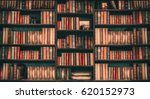 image blurred many old books on ... | Shutterstock . vector #620152973