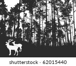 vector silhouette of the deers... | Shutterstock .eps vector #62015440