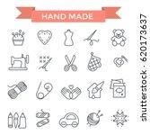 Handmade Icons  Thin Line  Fla...