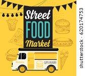 street food festival poster.... | Shutterstock .eps vector #620174753