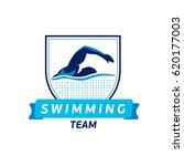 vector swimming team logo.... | Shutterstock .eps vector #620177003
