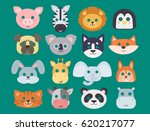 animals carnival mask vector... | Shutterstock .eps vector #620217077