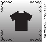 t shirt icon flat vector.