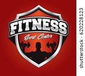 fitness logo template   Shutterstock .eps vector #620228123