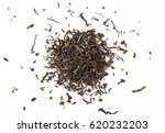dry tea leaves  isolated on... | Shutterstock . vector #620232203