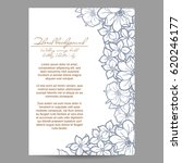 invitation with floral... | Shutterstock .eps vector #620246177