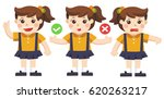 difficult decision. a girl... | Shutterstock .eps vector #620263217
