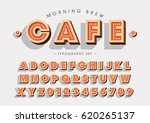 vector of vintage abstract font ... | Shutterstock .eps vector #620265137