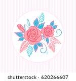 pillow or invitation card... | Shutterstock . vector #620266607