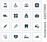 medicine icons set. collection... | Shutterstock .eps vector #620273303