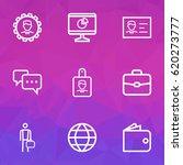 trade outline icons set.... | Shutterstock .eps vector #620273777