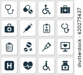 drug icons set. collection of... | Shutterstock .eps vector #620275637