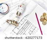 engineering heating. concept... | Shutterstock . vector #620277173