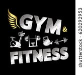 gym and fitness banner vector | Shutterstock .eps vector #620292953