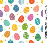 easter eggs seamless pattern.... | Shutterstock .eps vector #620296847