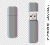 blank usb drive design mock up... | Shutterstock .eps vector #620298377