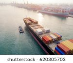 container ship in the port | Shutterstock . vector #620305703