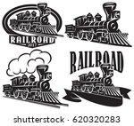 set of vector logos in vintage...
