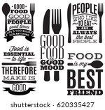 set of vintage typographic food ... | Shutterstock .eps vector #620335427