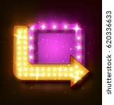 neon sign with arrow and... | Shutterstock .eps vector #620336633