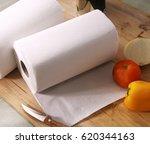 kitchen towel rolling on...   Shutterstock . vector #620344163