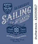 sailing atlantic navigation ... | Shutterstock .eps vector #620350817