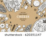 cheese vertical banner... | Shutterstock .eps vector #620351147