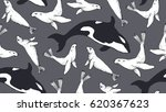 seamless pattern with hand... | Shutterstock .eps vector #620367623