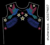 embroidery neck line pattern... | Shutterstock .eps vector #620379857
