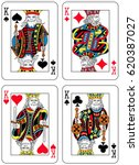 four kings figures inspired by... | Shutterstock .eps vector #620387027