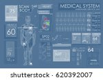 modern medical examination in... | Shutterstock .eps vector #620392007