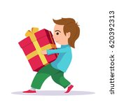picture of a small boy carrying ... | Shutterstock .eps vector #620392313