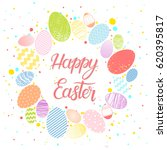 easter typography.happy easter  ... | Shutterstock .eps vector #620395817