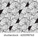 seamless vector monochrome...   Shutterstock .eps vector #620398763