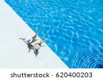two beautiful tanned sporty... | Shutterstock . vector #620400203