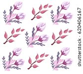 set with floral elements and... | Shutterstock .eps vector #620406167