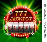 casino slots jackpot 777... | Shutterstock .eps vector #620409353