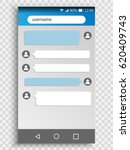 vector phone chat interface.... | Shutterstock .eps vector #620409743
