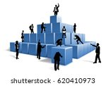 people silhouettes business... | Shutterstock .eps vector #620410973